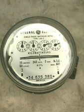 Vintage GE Single Phase Watthour Electric Meter I-50-S Model AR1 MADE IN USA