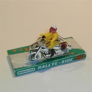 Minialuxe Rallye-Side Motorcycle with Sidecar and Riders Boxed as New