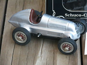 "SCHUCO ~ c1996 CLASSIC STUDIO 1050 #01011 Clockwork 5¾"" Tin Racing Car ~ GERMANY"