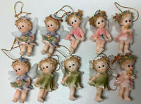 Flower Fairies Christmas Ornaments Variety  Lot Of 10