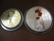 Ukraine 2 coins 1 UAH + 5 UAH 2015: 70 Years of Victory 1945-2015 WWII