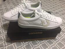 New Men's Converse Pro Leather 76 Ox White/White/Navy Size 12 155320C Lunarlon
