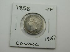 1858 CANADA 10 CENTS  NICE GRADE  FIRST YEAR (C12/19)