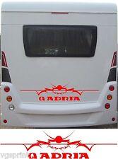 Adria Grand camping-car / Caravane arrière VINYL Graphique Stickers