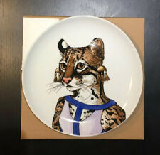 West Elm Rachel Kozlowski Dapper Animal Plate OCELOT NEW Collectible