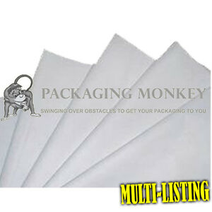 WHITE ACID FREE TISSUE PAPER - ALL SIZES / PACK QTY'S