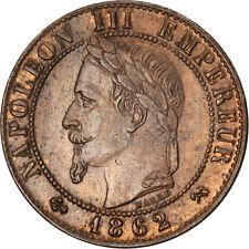 Monnaies, Second Empire, 1 Centime Napoléon III tête laurée 1862 K, KM #83791