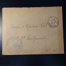 Letter cover attaching women paris front marceau 1919