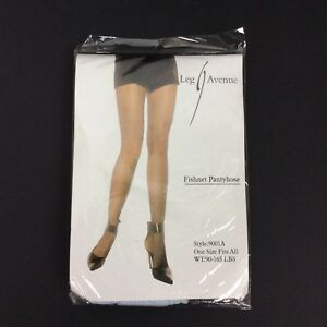 Leg Avenue Fishnet Pantyhose Light Blue One Size Fits All 90-165 LBS Style 9001A