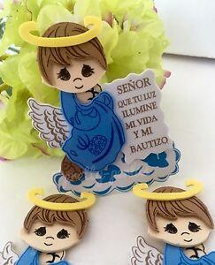 10-Bautizo Party Table Decorations Foam Centerpiece Favors Supplies Boy Baptism