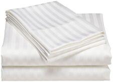 1500 Thread Count Sheet Set White Striped All Sizes 100% Egyptian Cotton