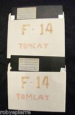 2 Floppy disc insieme 5.25 inch 5 1/4 Commodore 64 TomCat F-14 sia il n 62 e 63