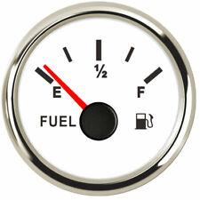 Fuel Gauge 0-90ohms E-F Fuel Level Gauges Red Led For Car Boat 52mm/2inch