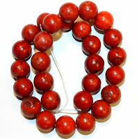 """GR1664f Dark Red 16mm Round Sponge Coral Gemstone Beads 16"""""""