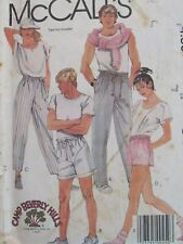 VTG 85 McCALLS 9541 MS/Mens Pants & Shorts~both n 2 lengths PATTERN XS/23-24W UC