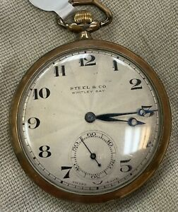 1920s Rolex Pocket Watch. Signed Rolex  Movement And Case.Retailer  on dial