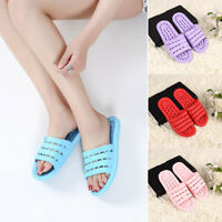 Women Men Summer Slippers Shower Bath Home Indoor Shoes Beach Solid Casual