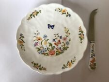 Aynsley, Cottage Garden, Cheese Plate and Knife complete in box