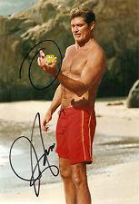 Baywatch David HASSELHOFF Original Autograph great photo! Sponge Bob