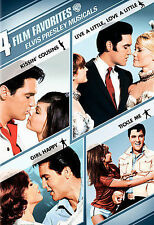 Elvis Presley 4 FILMS (NEW 2DVD Set) KISSIN' COUSINS,LIVE A LITTLE,GIRL HAPPY