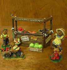 Boyds Bearstones Vignette #24805 BLOOMENSHINE'S VEGGIE MART, From Retail Store