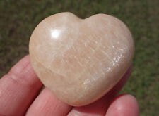 PEACH Moonstone Crystal Shimmering Heart Point Hard to Find Quality So Pure