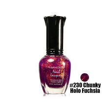 1 Kleancolor Nail Polish Lacquer #230 Chunky Holo Fuchsia Manicure Pedicure