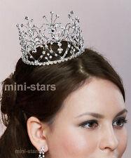 Sposa Matrimonio Cuore Princess CRISTALLO Cerchio Rotondo Mini Tiara corona