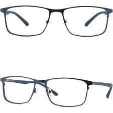Leichte Herren Brillengestell Gestell Titan Metall Square Brillen Fassung Blau