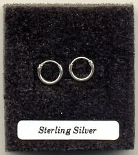 Tiny Silver Hoops 8mm Sterling Silver 925 Earrings Pair
