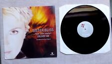 "DISQUE VINYLE MAXI 45T 12"" / SISTER BLISS FEAT. JOHN MARYN ""DELIVER ME"" 2001"