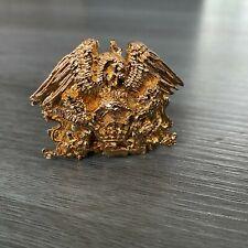 QUEEN Freddie Mercury Gold metal large badge logo Belt Buckle Jewelry Necklace ?