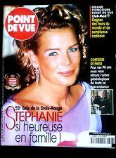 Point de Vue 8/08/2001; 53e Gala de la Croix Rouge; Stéphanie de Monaco