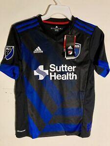 Adidas Youth MLS Jersey San Jose Earthquakes Team Black sz L