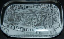 Antique Neel & Wampler Lumber Yard McKeesport PA Advertising Paperweight RARE