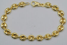 10K gold mariner style bracelet