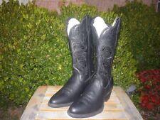 """Women's NIB 7.5 B M Twisted X Black Deertan 12"""" Round Toe Cowboy Dress Boots"""
