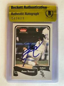 Aaron Rowand Signed 2004 Fleer Tradition #102 Card Beckett BAS COA BGS White Sox