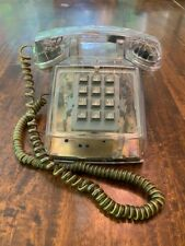Vintage 1990 Cortelco Transparent Clear Push Button Desk Telephone Made in USA