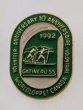Gatineau Loppet Lapel Pin 1992 Volunteer Worldloppet Ski Canada 10 Anniversary