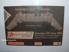 METALLICA Concert Ticket Stub MILTON KEYNES U.K. June 1993 VERY RARE