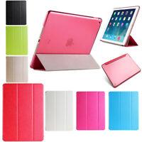 Slim Magnetic Leather Smart Cover Hard Back Case For Apple iPad Air mini 2 3 4 E
