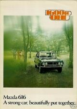 Mazda 616 1974-75 Export Markets Foldout Sales Brochure In English Saloon Coupe