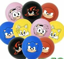 """10 x 12"""" Sonic The Hedgehog Balloons For Birthday Balloons Loot Bag Supplies"""
