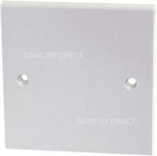 Single Blank Blanking Plate Standard White Cover Plate Cover Plugs Socket Flush