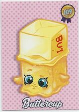 SHOPKINS COLLECTOR CARDS Buttercup #109 - Seasons 1 & 2 - Glitter MINT/NM