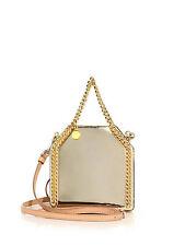 Stella McCartney Gold Falabella Baby Bella Mirrored Top-Handle Bag. RRP £1350.