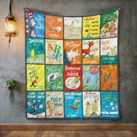 Dr.Seuss Books Quilt Blanket