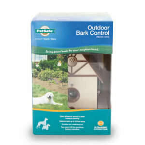 PetSafe Outdoor Ultrasonic Bark Control Birdhouse PBC00-11216 Stop Dog Barking