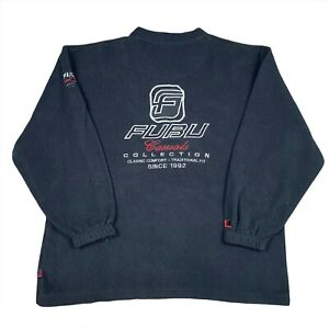 Vintage 90s Fubu Sports Casual Collection Fleece Sweatshirt Jacket Size XXL